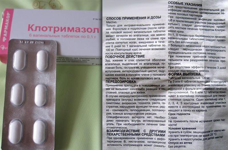 Инструкция по применению для мази Клотримазол при молочнице у женщин