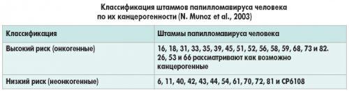 Классификация штаммов папилломавируса