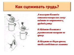 Схема сцеживания молока