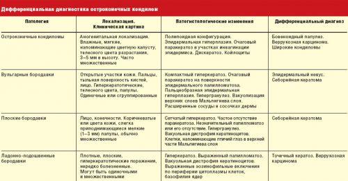 Диагностика остроконечных кондилом