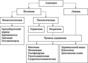 Формы аменореи