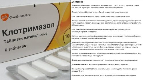 Клотримазол таблетки