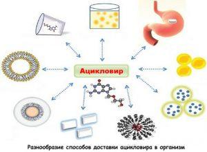 Формы доставки ацикловира в клетки