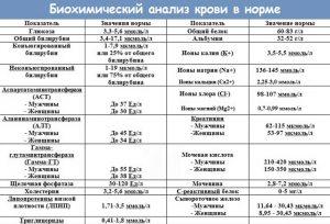 Биохимический анализ крови в норме
