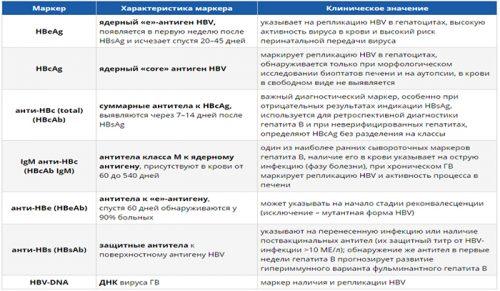 Маркеры гепатита В