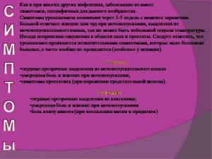 Симптомы уреаплазмоза