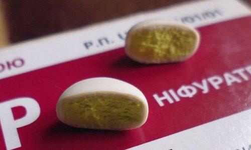 Содержимое таблетки препарата