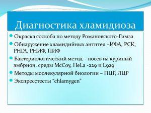 Диагностика хламидиоза