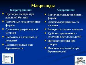 Особенности популярных макролидов