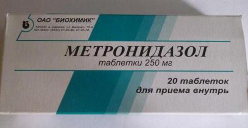Метронидазол при аднексите: отзывы и применение