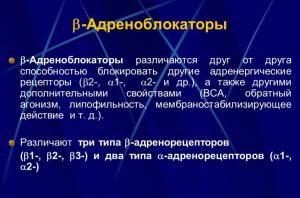 β1-адреноблокаторы