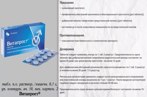 Инструкция к препарату Витапрост