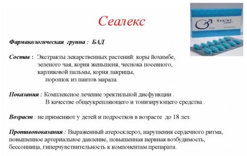 Состав и показания к применению препарата Сеалекс