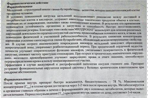 Инструкция препарата Милдронат