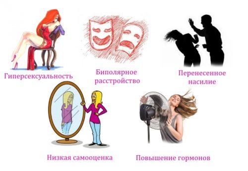 Причины нимфомании