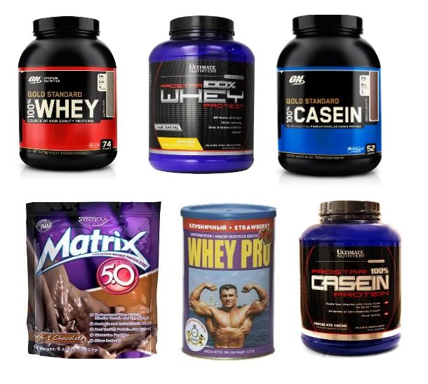 Популярные марки протеина